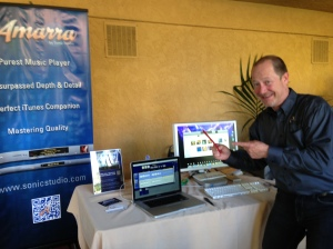 James Andersson with Amara at T.H.E HOME ENTERTAINMENT SHOW, NEWPORT BEACH, CA, 2013, DAY THREE