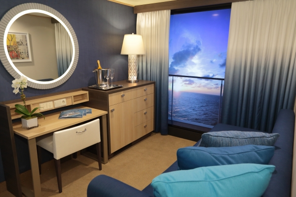 Virtual balcony at Royal Caribbean's Quantum of the Seas 2