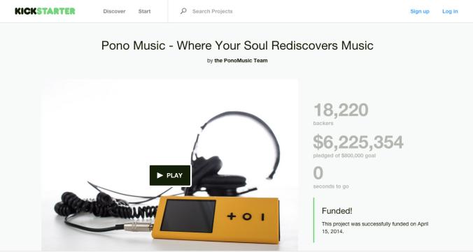 Hi-Reality; Neil Young Pono Player, Image from Kickstarter.com