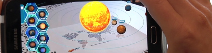 Image credit: EON AR Solar System from EON Reality Inc.